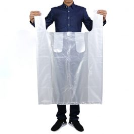 White Big Vest Style Plastic Bags Carrier Poly Bags
