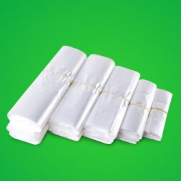 White Plastic Shopping Vest Poly Bags