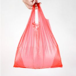 Red Plastic Bags Vest Polybag Fruit Vegetable Shopping Bag Take Out Bags