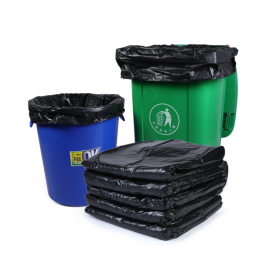 Trash Bags Black Heavy Duty Garbage Can Liners (50 Count)