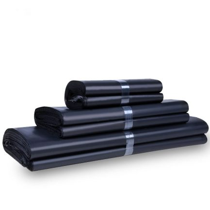 Black Mailer Envelopes Poly bags Courier Package Shipping Bags with Self Adhesive, Waterproof and Tear-Proof Postal Bags