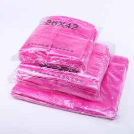 Pink Plastic Bags Carry Out Shopping Vest Poly Bags