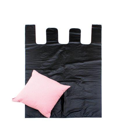 Black Big Vest Style Large Plastic Bags Carrier Poly Bags